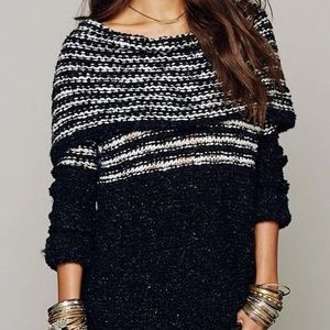 Free People Loose Knit Chunky Sweater S